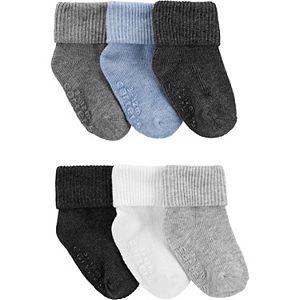 Baby Carter's 6 Pack Solid Foldover Crew Socks