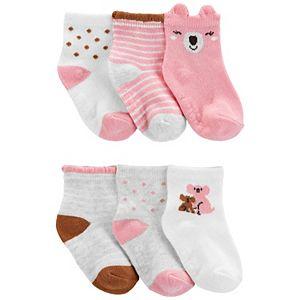 Baby Girl Carter's 6 Pack Bootie Crew Socks