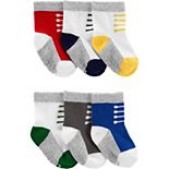 Baby Boy Carter's 6 Pack Striped & Pattern Crew Socks