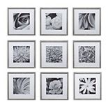 Pinnacle Frames and Accents Square Gallery Collage Wall Frame 9-piece Set