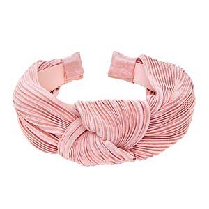 Pleated Satin Top Knot Headband