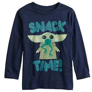 """Toddler Boy Jumping Beans® Star Wars The Mandalorian The Child aka Baby Yoda """"Snack Time"""" Graphic Tee"""