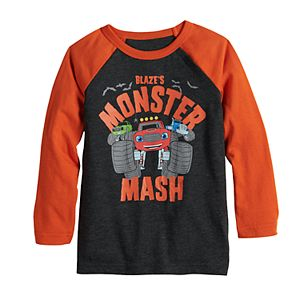 "Toddler Boy Jumping Beans® Blaze & The Monster Machine ""Monster Mash"" Raglan Graphic Tee"