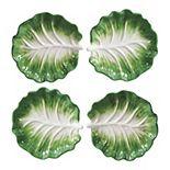 Certified International English Garden 4-pc. Canape Plate Set