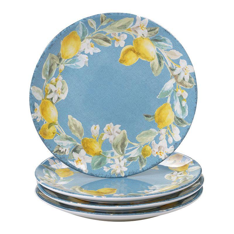 Certified International Citron 4-pc. Dinner Plate Set. Multicolor