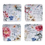 Certified International Spring Bouquet 4-pc. Canape Plate Set