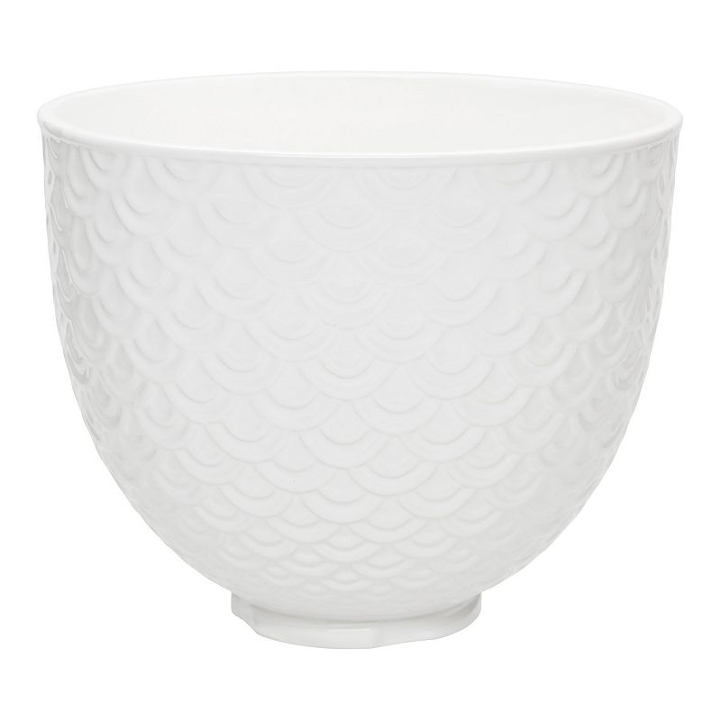 KitchenAid KSM2CB5TWM 5-qt. White Mermaid Lace Ceramic Stand Mixer Bowl, 5 QT