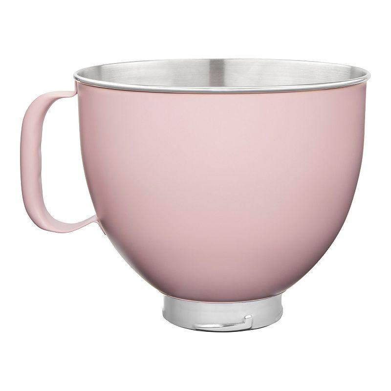 KitchenAid KSM5SSB 5-qt. Tilt-Head Colorfast Finish Stainless Steel Stand Mixer Bowl, Dark Pink, 5 QT