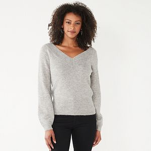 Women's Nine West Femme Double V-Neck Sweater