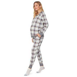 Maternity Cuddl Duds® Socks, Long Sleeve Top & Pants Pajama Set