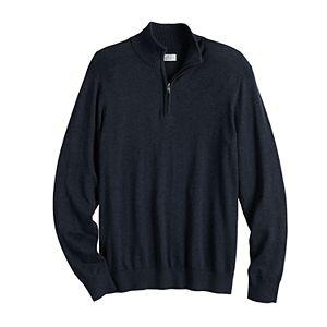 Men's Croft & Barrow® Regular-Fit Easy-Care Quarter-Zip Sweater
