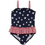 Baby Girl OshKosh B'gosh® Stars & Stripes One-Piece Swimsuit