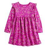 Toddler Girl Jumping Beans® Babydoll Flutter Sleeve Dress