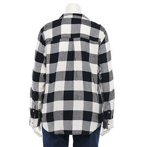 Juniors' SO® Lace Up Shirt