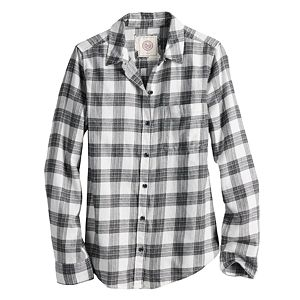 Juniors' SO® Relaxed Fit Flannel Shirt