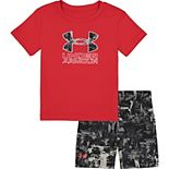 Boys 4-7 Under Armour Splash Logo Tee & Shorts Set