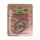 Uncle Bud's 4.20mg CBD Rose Gold Face Mask