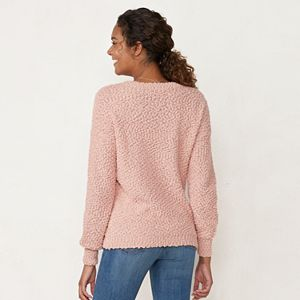 Women's LC Lauren Conrad Crewneck Popo Sweater