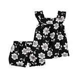 Baby Girl Carter's Floral Top & Shorts Set