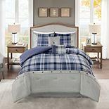 Madison Park James 6-piece Comforter Set with Coordinating Pillows