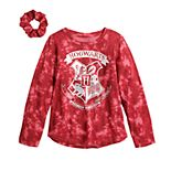 Girls 7-16 Harry Potter Hogwarts Houses Graphic Tee with Scrunchie