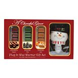A Cheerful Giver Snowman Outlet Wax Melt Warmer & Wax Melts Gift Set