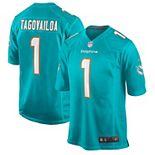 Men's Nike Tua Tagovailoa Aqua Miami Dolphins 2020 NFL Draft First Round Pick Game Jersey