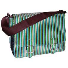 Kalencom Striped Messenger Diaper Bag
