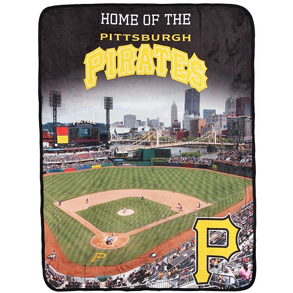 The Northwest Pittsburgh Pirates 46 X 60 Pnc Park Raschel Plush Throw Blanket
