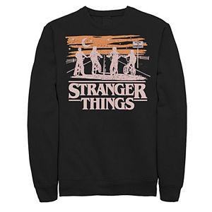 Men's Netflix Stranger Things Night Silhouettes Sweatshirt