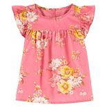 Toddler Girl OshKosh B'gosh® Floral Ruffle Top