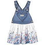 Toddler Girl OshKosh B'gosh® Floral Heart Pocket Jumper