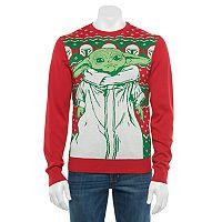 Licensed Character Men's The Mandalorian The Child aka Baby Yoda Christmas Sweater