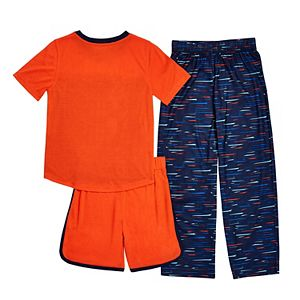 Boys 4-16 Cuddl Duds Top, Shorts & Pants Pajama Set