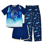 Boys 4-16 Cuddl Duds® Top, Shorts & Pants Pajama Set