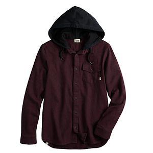 Men's Vans Brodown 2 Hooded Button-Down Shirt