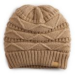 Women's Sonoma Goods For Life® Solid Chevron Knit Beanie