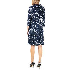 Women's Nina Leonard V-Neck Fit & Flare Dress