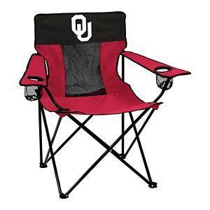 Logo Brands Oklahoma Sooners Elite Portable Folding Chair