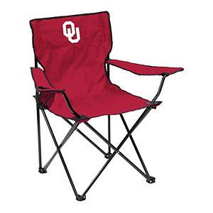 Logo Brands Oklahoma Sooners Quad Portable Folding Chair