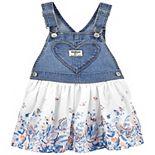 Baby Girl OshKosh B'gosh® Floral Heart Pocket Jumper
