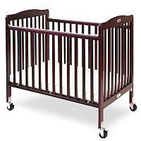 LA Baby Folding Compact Crib & Mattress