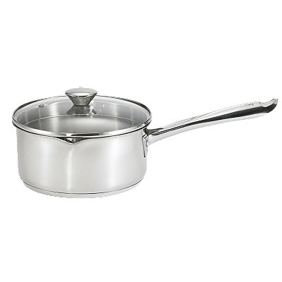 WearEver Cook and Strain 3-qt. Stainless Steel Covered Saucepan