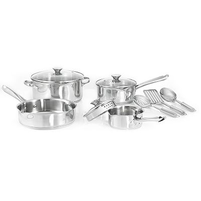 WearEver Cook and Strain 10-pc. Stainless Steel Cookware Set