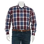 Big & Tall Apt. 9® Patterned No-Iron Button-Down Shirt