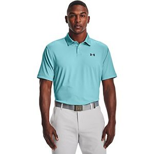 Men's Under Armour Striped Classic-Fit Performance Golf Polo