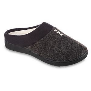 Women's isotoner Marisol Microsuede Heathered Knit Hoodback Slipper