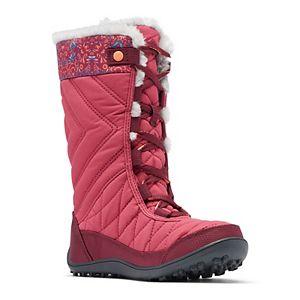 Columbia Minx Mid III Print Omni-Heat Girls' Waterproof Winter Boots