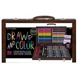 Art 101 Draw and Color 106 Piece Art Set in a Wood Carrying Case