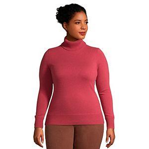 Plus Size Lands' End Cashmere Turtleneck Sweater